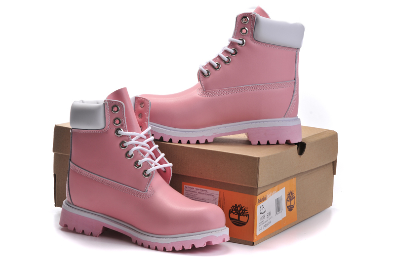 TIMBERLAND Women Classic 10061 Light Pink Spring/Autumn Martin Boots,Woman Popular High Top Solid Color Leather Ankle Shoes  5