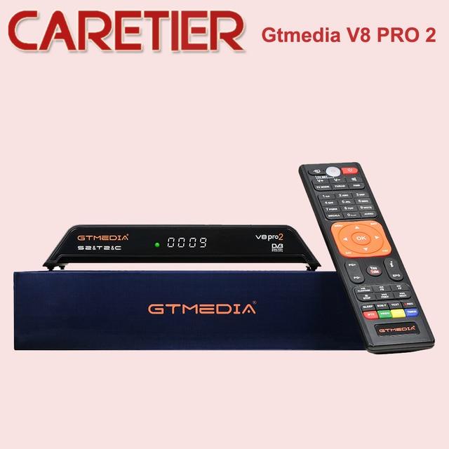 Наличии Gtmedia V8 Pro2 DVB-S/S2/S2X, DVB + T/T2/кабель (J83.A/B/C)/ISDBT bulit в Поддержка wi-fi полный PowerVu, DRE и Biss ключ DHL
