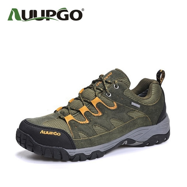 Auupgo Men Suede Leather Shoes Men Leather Casual Shoes Waterproof Lovers Outdoor Shoes For All Season B2600