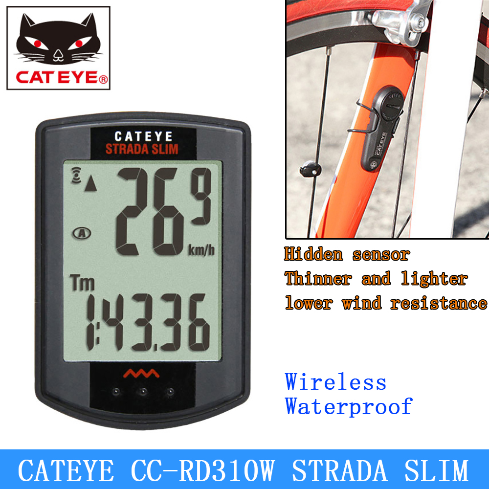CATEYE CC RD310W Cycling Bicycle Wireless Digital Computer Speedometer micro ultra light thin Racing Stopwatch For