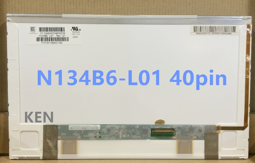 NEW 13.4 N134B6-L01 N134B6-L02 LTN134AT02 LED WXGA LCD Laptop Screen For laptop