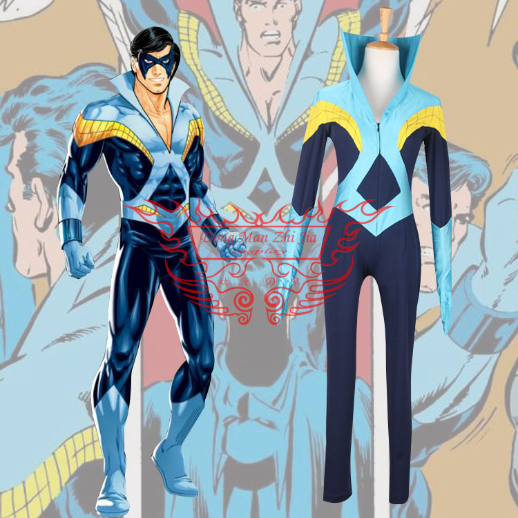 Men's Young Justice Nightwing Discowing Version Cosplay Costume Men's Jumpsuit