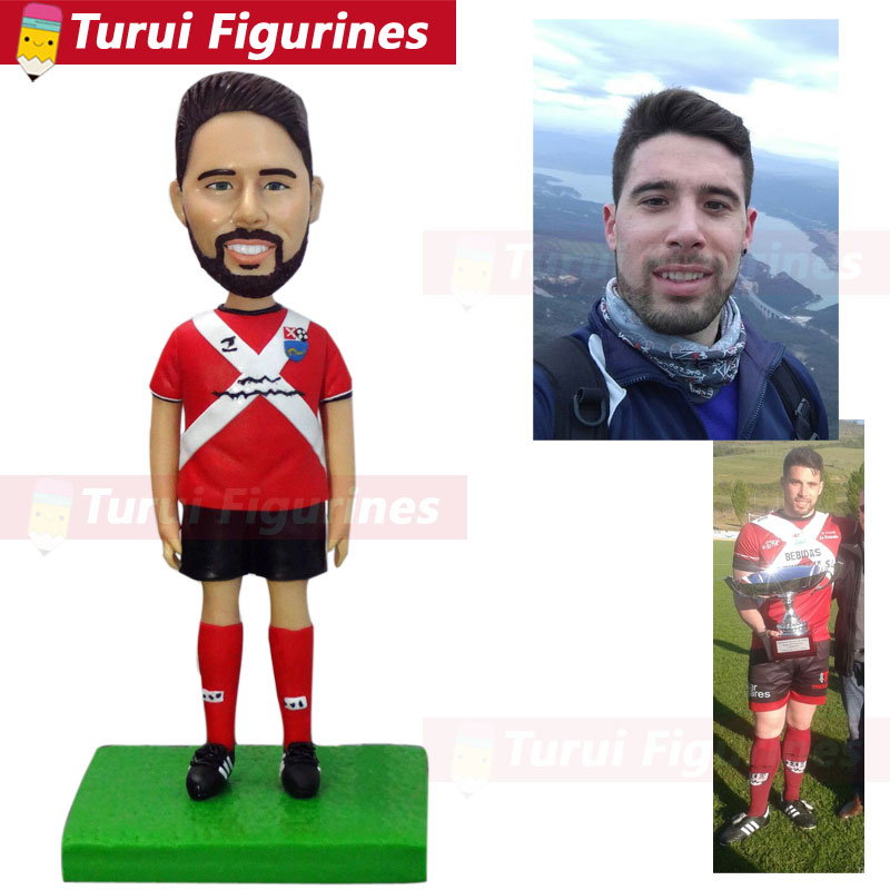 Turn Your Selfies Into Bobble Head Custom Sports Bobblehead Custom Bobbleheads From Photo Clay Dolls Making Anime Figurines Doll