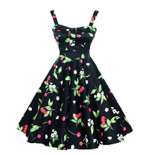 Women Summer Dress 2016 plus size clothing Sling Floral robe Retro Swing Casual 50s Vintage Rockabilly Dresses Vestidos