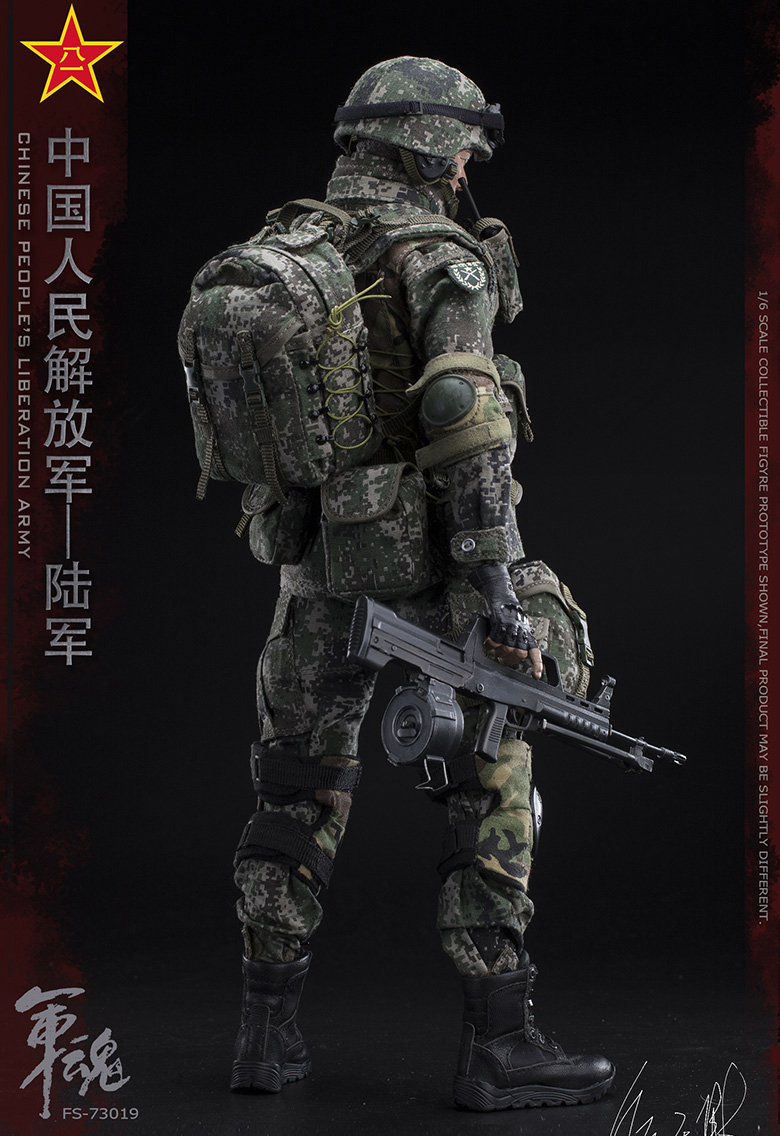 1/6 Scale Chiese People's Liberation Army Soul-Series Army Machine Gunner Military Solider Action Figure Full doll collection 19