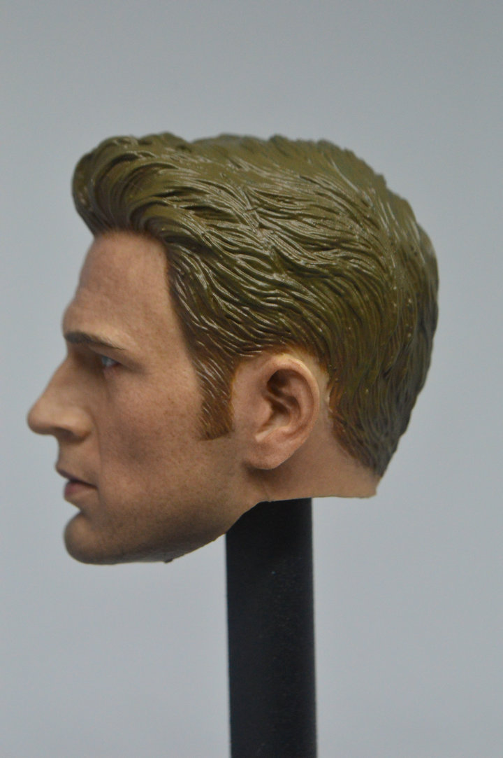 Custom 1//6 Scale Captain America Steve Rogers Male Head Sculpt HOT HEART New
