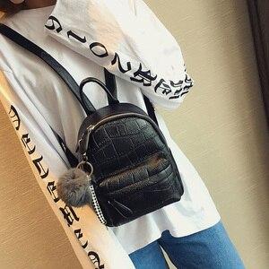 Image 3 - Mini Backpacks Women PU Leather Cute Small Backpack Female White Back Pack Black Backpacks for Teen Girls Fashion Bagpack Woman