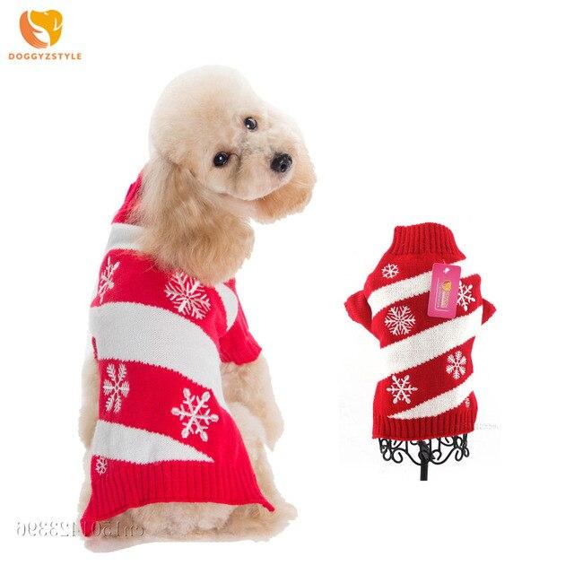 Navidad suéter gato perro Snowflake PET abrigo chaqueta del perro ...