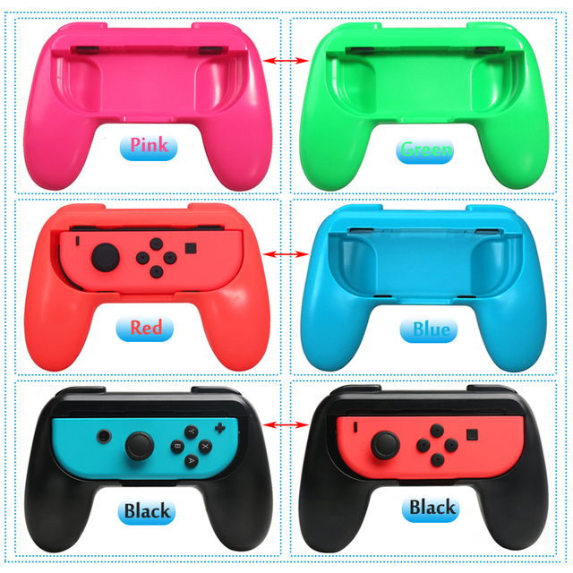 2pcs/set Nintend Switch ABS Gamepad Grip Handle Joypad Stand Holder for Nintendo Switch Left Right Joy-Con Game Controller