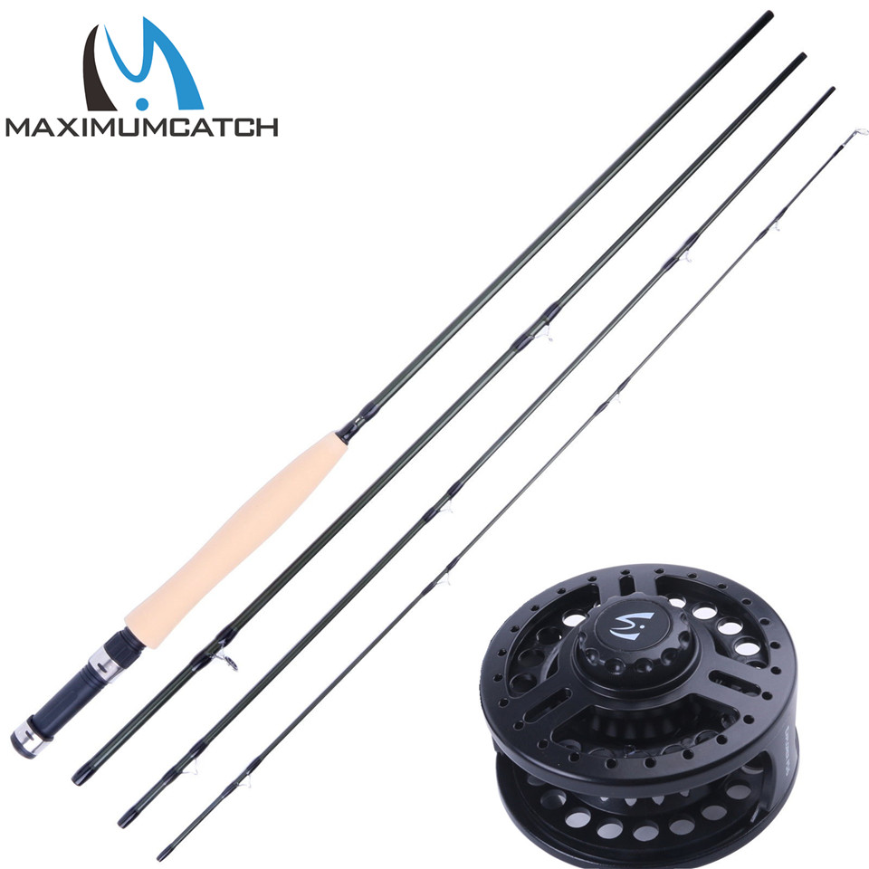 Maximumcatch Fly Rod and Reel Combo 9' 5WT 4Pieces Fly Rod & 5/6WT Graphite Fly Reel Combo 6 4 4m bounce house combo pool and slide used commercial bounce houses for sale