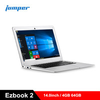 Jumper Ezbook 2 Ultrabook 14.0inch Laptops Windows 10 Notebook Intel Cherry Trail X5 Z8350 Quad Core 4GB+64GB Laptop LED Screen