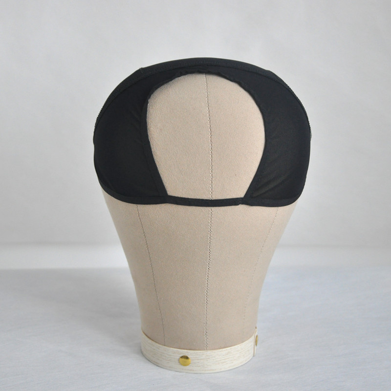 Black/Brown U Part Wig Cap For Making Wigs Hair Weaving Stretch Adjustable Wig Cap Glueless Weaving Caps Mesh Wig Cap