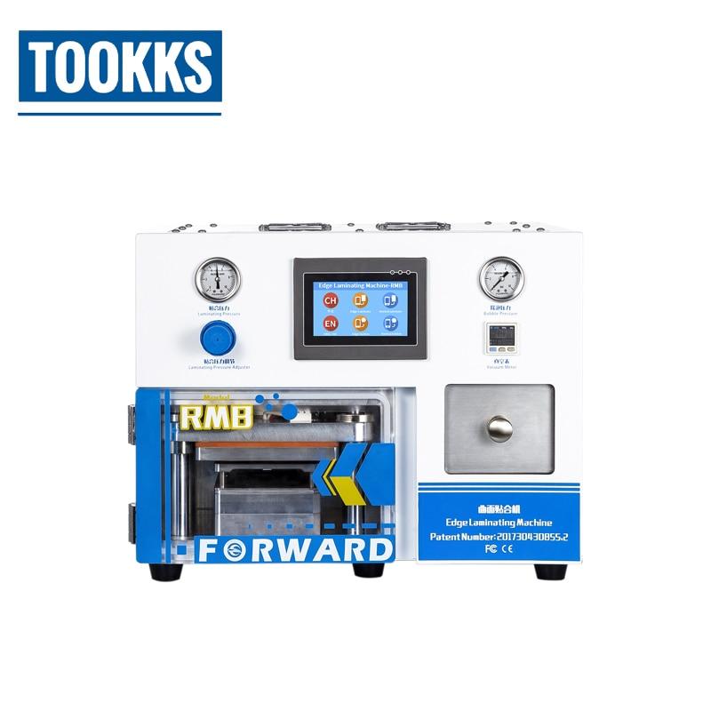 RMB 5 in 1 OCA Laminieren Maschine Eingebaute Vakuumpumpe Air Kompressor Mit 5 satz Sumsung Rand Gebogene Touchscreen reparatur Formen