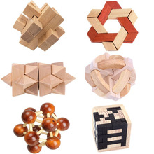 Educational Wood Puzzles For Adults Kids Brain Teaser 3D Russia Ming Luban Educational Kid Toy  Children Gift Baby Kid's Toy цена