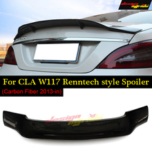 купить For Mercedes Benz W117 Spoiler Tail Renntech Style Carbon Fiber For Benz CLA W117 CLA180 CLA200 CLA250 Rear Spoiler CLA45 13-18 в интернет-магазине