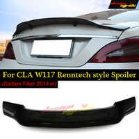 Para mercedes cla w117 c117 x117 tronco traseiro spoiler grande duckbill asa renntech estilo fibra de carbono sem broca/vara direta 2014-2018