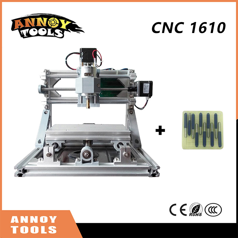 Quality CNC 1610+500mw-5.5w ER11 GRBL DIY mini CNC1610 laser engraving machine, 3 Axis pcb Milling machine, Wood Carving Router eur free tax cnc 6040z frame of engraving and milling machine for diy cnc router