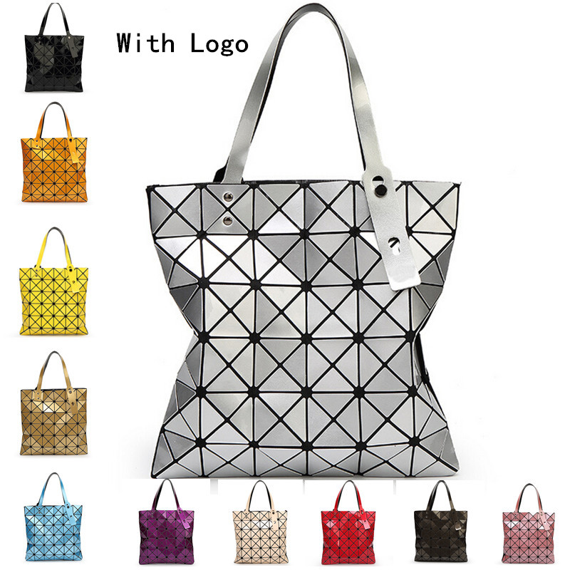 06e09ca7d8 Fold Over Geometric Zipper bag Women Handbags Casual Tote Japan Famous  Brand Bao Bao Issey Miyake Good Quality Style Bucket Bags
