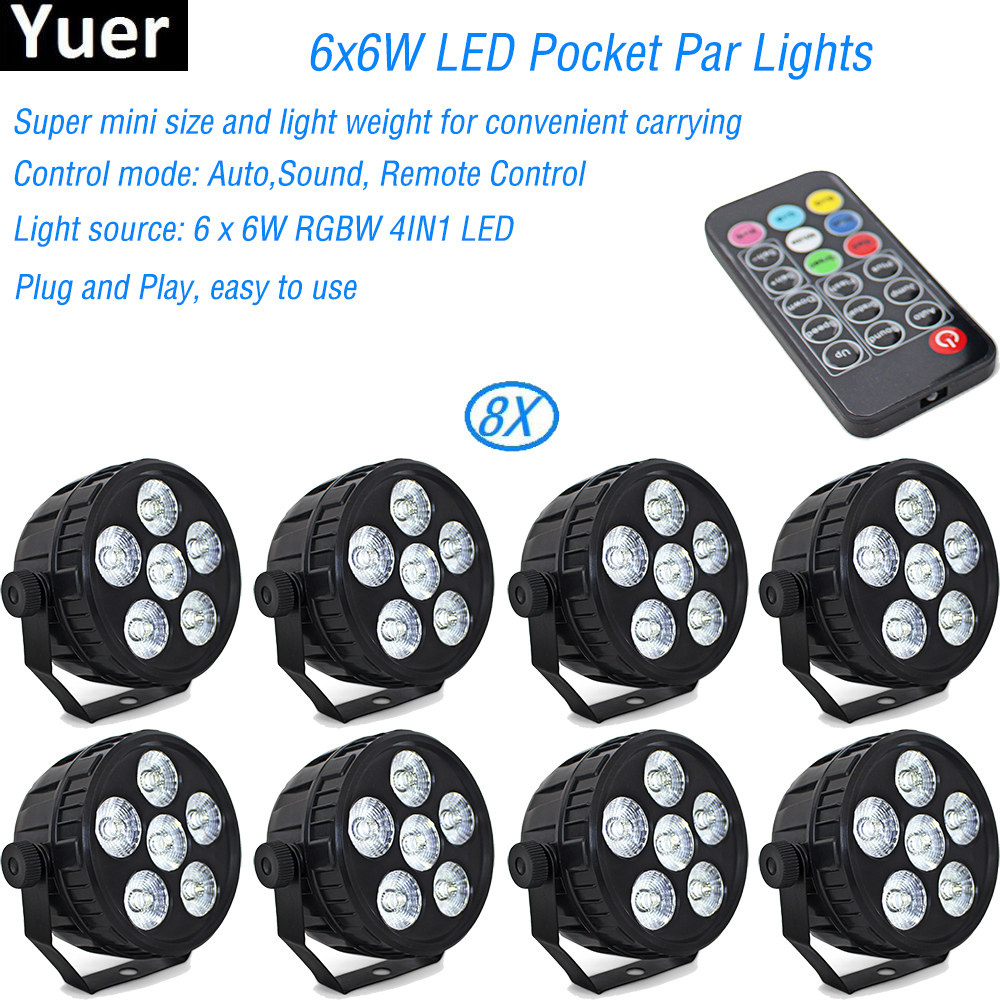 HOT Selling LED Flat Par 6x6W RGBW DMX Stage Lights Business Lights High Power Light with Professional for Party KTV Disco DJHOT Selling LED Flat Par 6x6W RGBW DMX Stage Lights Business Lights High Power Light with Professional for Party KTV Disco DJ