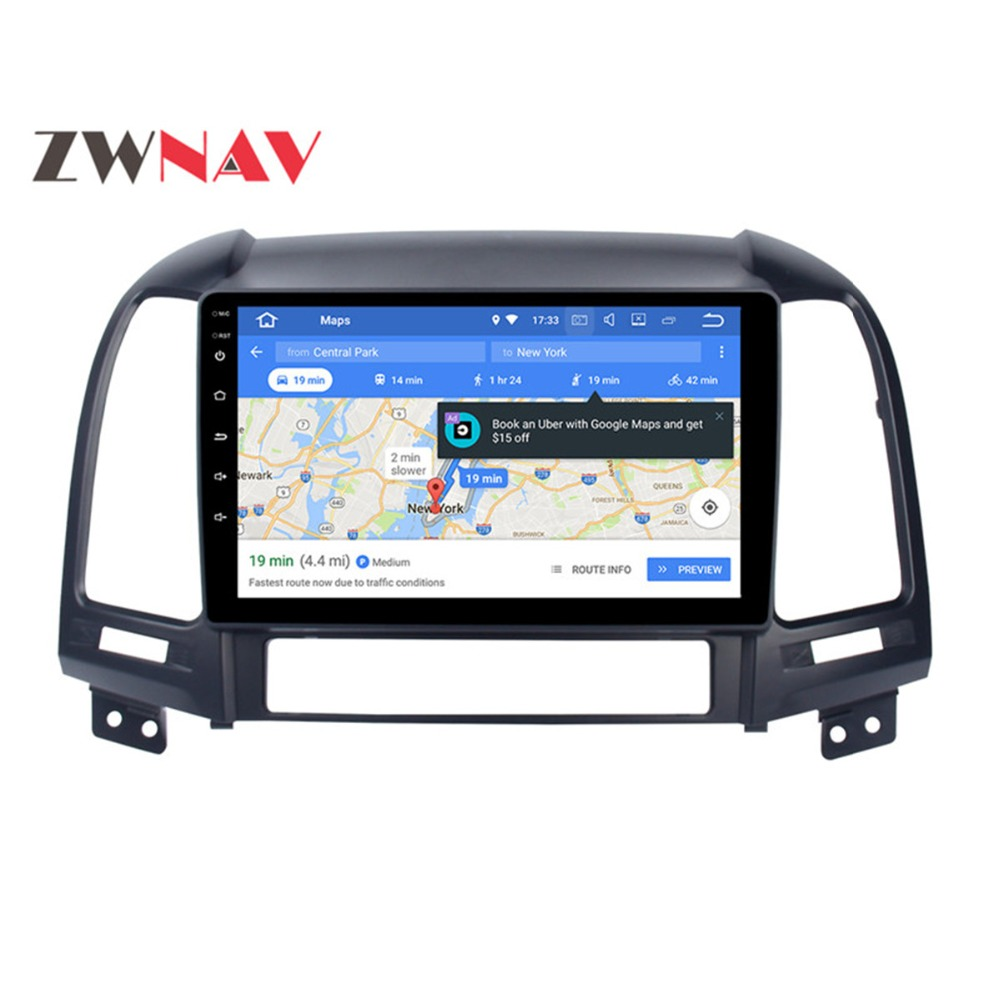 Android 8.0 4+32GB 8 Core Car DVD Player GPS Navigation Headunit IPS Screen For Hyundai Santa Fe 2006-2012 Car Radio 2 din klyde 7 2 din 8 core 32gb android 8 0 car multimedia player for hyundai santa fe 2006 2011 car dvd player 1024 600
