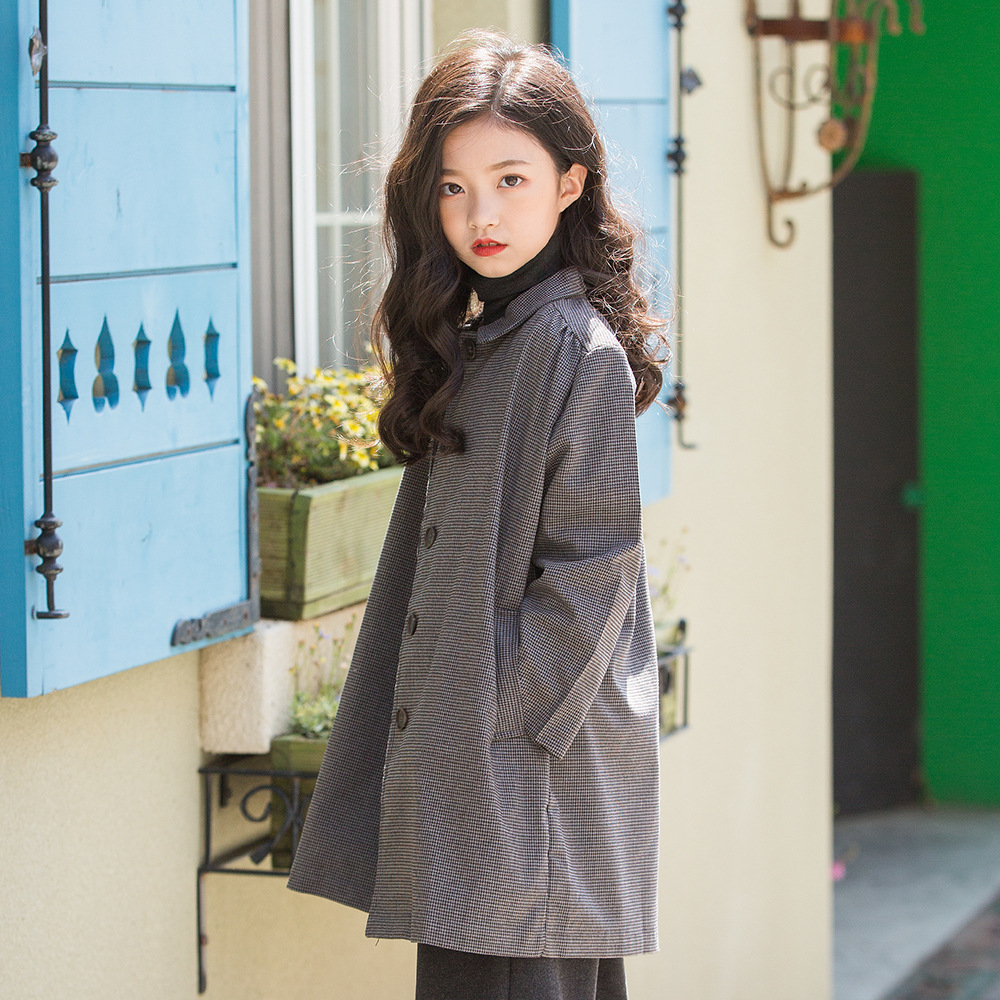 New Year Kids Girl Spring Overcoat Autumn Cotton Coat For Girls Teens Waistband Designs Jacket Long Outerwear Children WindproofNew Year Kids Girl Spring Overcoat Autumn Cotton Coat For Girls Teens Waistband Designs Jacket Long Outerwear Children Windproof