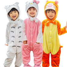 kids sleepwear baby pyjama jumpsuit pajamas Cute Home Sleepwear for boy kigurumi unicorn set nightgown flannel