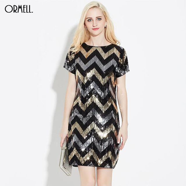 korte glitter jurk