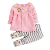 Baby Girl Clothes 2017 Spring Fashion Newborn Baby Girls Clothes Set 3 24M Cotton Full Sleeve