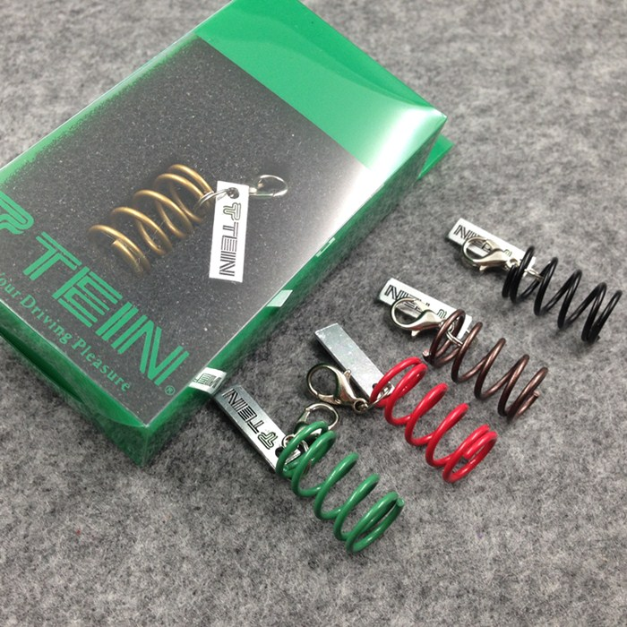Tein Suspension S-Tech Green Spring Key Chain Keychain Official Goods JDM