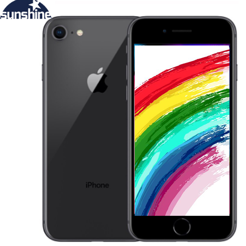 Original Apple IPhone 8 2G RAM 64GB/256GB ROM 4G LTE  4.7''12.0 MP IOS Fingerprint Cellphone Camera Hexa-core Apple IPhone 8