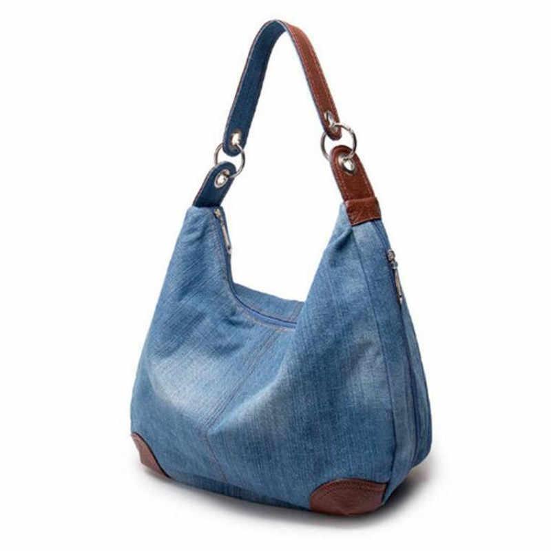 a454d04d52a0 ... 2018 большая роскошная женская джинсовая сумка большая сумка на плечо  синие джинсы джинсовая дамская сумка джинсовая ...