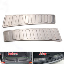 BBQ@FUKA Rear Pumper Trunk Door Sill Scuff Plate Trim Cover Fit For Land Rover Discovery Sport 2015+ Car Sticker Accessory