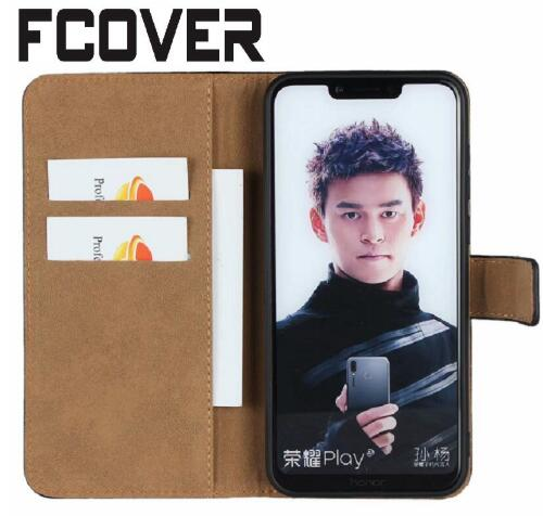 half off ec12f 07ef9 US $5.47 |For Huawei Nova 3 & Nova 3i Wallet Case Book Card Kickstand  Protective Genuine Leather Shell Flip Cover 2018-in Phone Pouches from ...