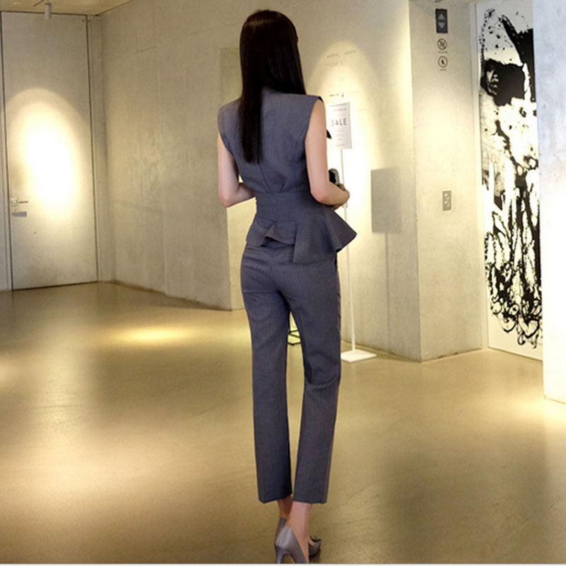 cca5fb6b27b8 2 piece set women pants and shirts 2019 Fashion knitting blouse pants suits  set ladies Sexy Evening dress suit twinset young man-in Women s Sets from  ...