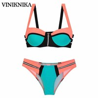 VINIKNIKA Hot Selling Stitching Cool Bikini Swimsuit Swimwear Summer Women Bikini Suit Push Up Biquinis Sexy