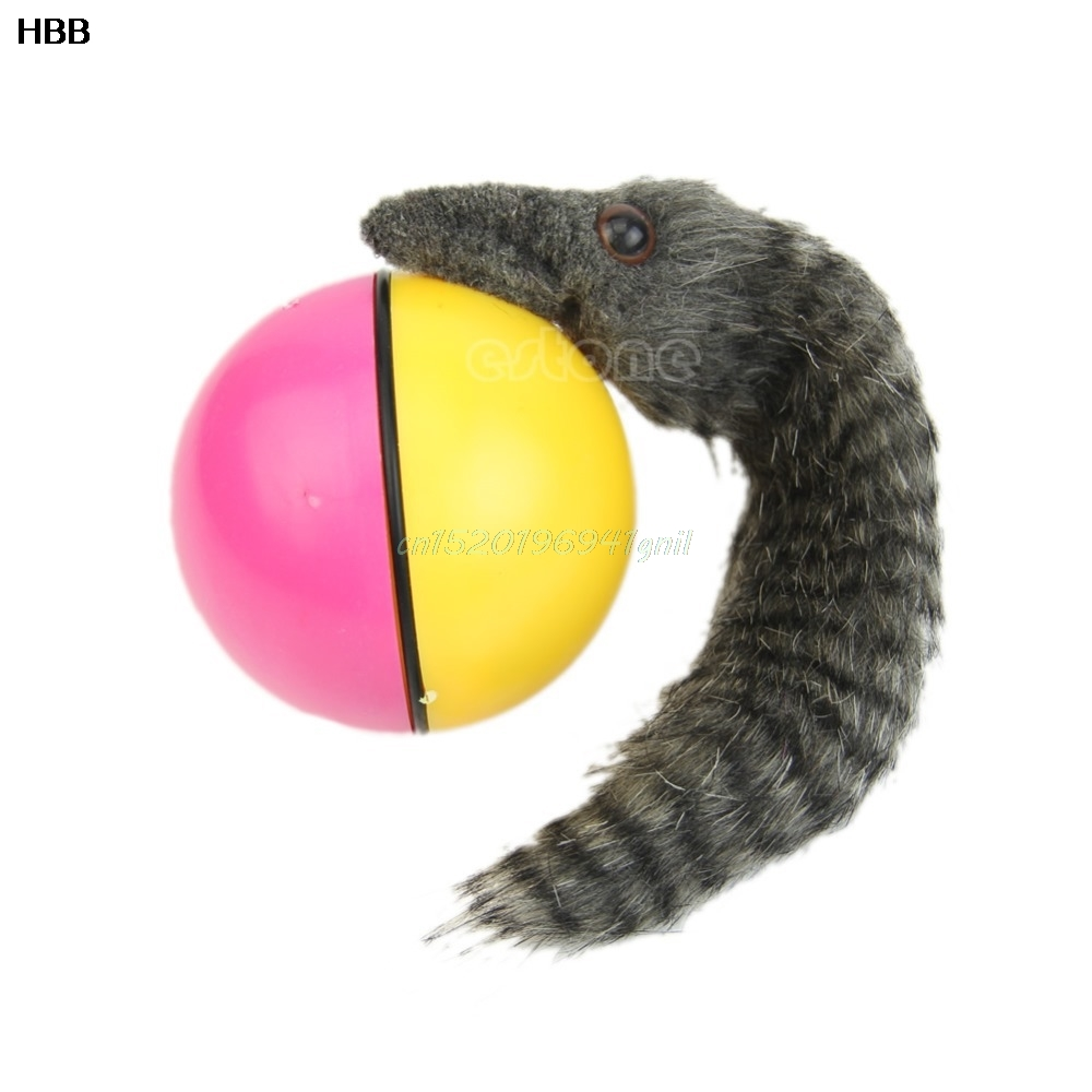 1 Pcs Pet Products Beaver Weasel Rolling Motor Ball Pet Cat Dog Kids Chaser Jumping Fun Moving Toy#T025#