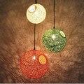 Retro Vintage Corda Luz Pingente Sótão Personalidade Criativa Luzes Pingente Industrial Edison Lâmpada Estilo Americano Para Sala de estar