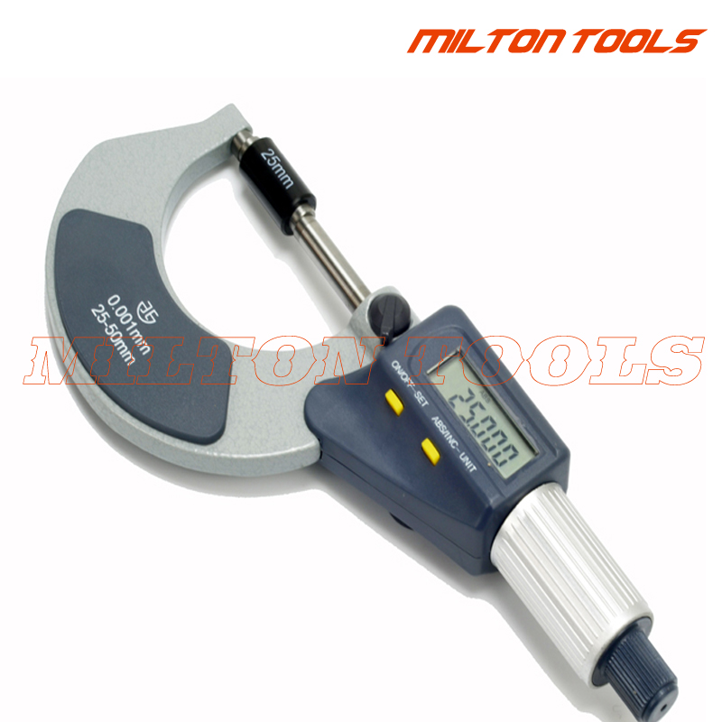 "4-5/""//0.00005/"" Micrometer Digital Electronic Oustside X-Large LCD Carbide Tips"