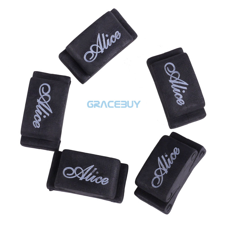 Guitar Picks Holder Alice 5pcs Black Rubber Palhetas Plectrums Fix on Headstock for Guitar Bass Ukelele(China (Mainland))