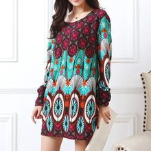 autumn winter Fashion Women long sleeve Dresses Plus Size Dress Loose girl casual tops 4xl 5XL tunic pullover elegant