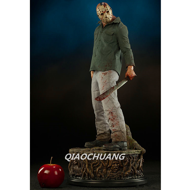Friday the 13th Statue Jason Voorhees Bust 1:2 Amok A Nightmare on Elm Street Full-Length Portrait Resin Collectible Model Toy neca a nightmare on elm street 2 freddy s revenge 3 dream warrior freddy krueger pvc action figure collectible model toy 50cm