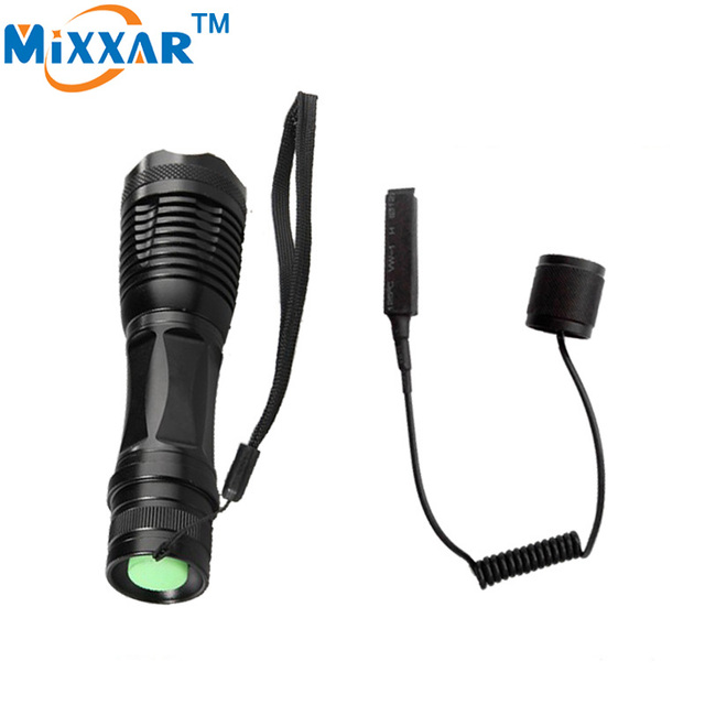zk50 LED torch CREE XM-L T6 4000 Lumens Torch Zoomable led tactical flashlight for Camping Hunting with a Remote Pressure Switch