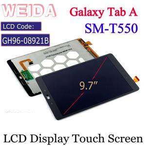 """WEIDA LCD Replacment 9.7"""" For Samsung Galaxy Tab A 9.7 WIFI T550 SM-T550 T555 LCD Display Touch Screen Assembly GH96-08921B(China)"""