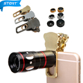KRY 4em1 Zoom 10X lentes do Telescópio Telefoto Macro Ampla Fisheye olho de Peixe lentes para iphone 7 7 lente iphone 5 5s 6 6 s plus lente