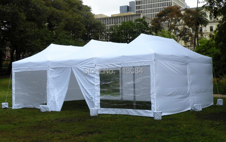 Free Shipping high quality aluminum 3m x 6m (10ft x 20ft) folding party tent, canopy, pop up gazebo, wedding marquee with window все цены