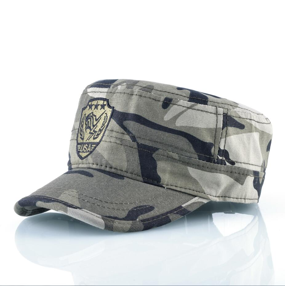 35e589dea USA Military Flat Hats Men Tactical Snapback Caps Women Outdoor Casual  Sports Hunting Camping Cotton Camouflage Bones-in Military Hats from Men's  ...