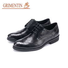 GRIMENTIN genuine leather men business shoes lace up formal shoes