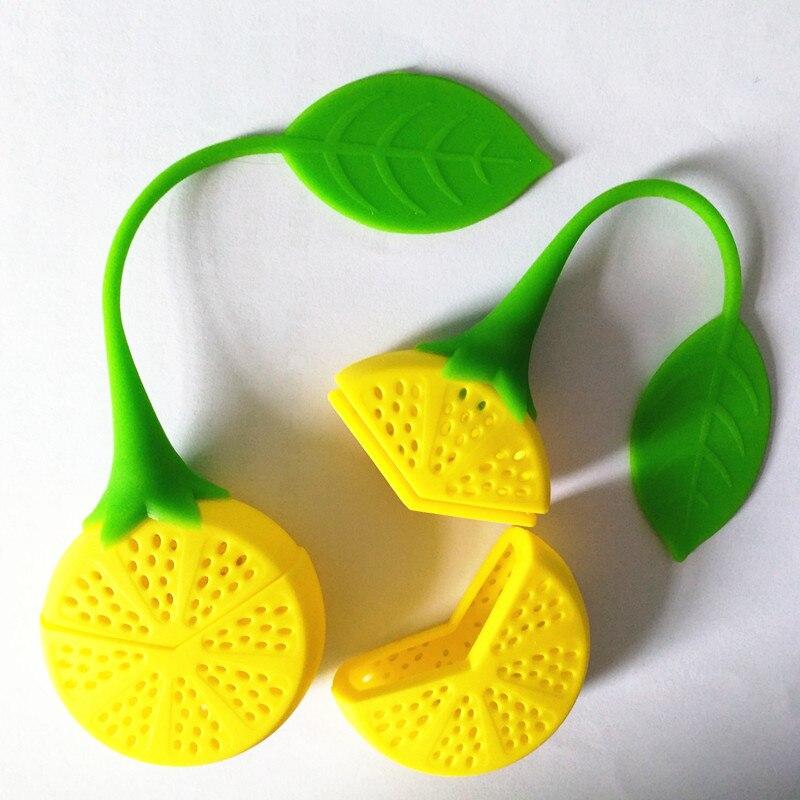 2pcs/lot Tea Strainer Silicone Strawberry Lemon Design Loose Tea Leaf Strainer Bag Herbal Spice Infuser Filter Tools