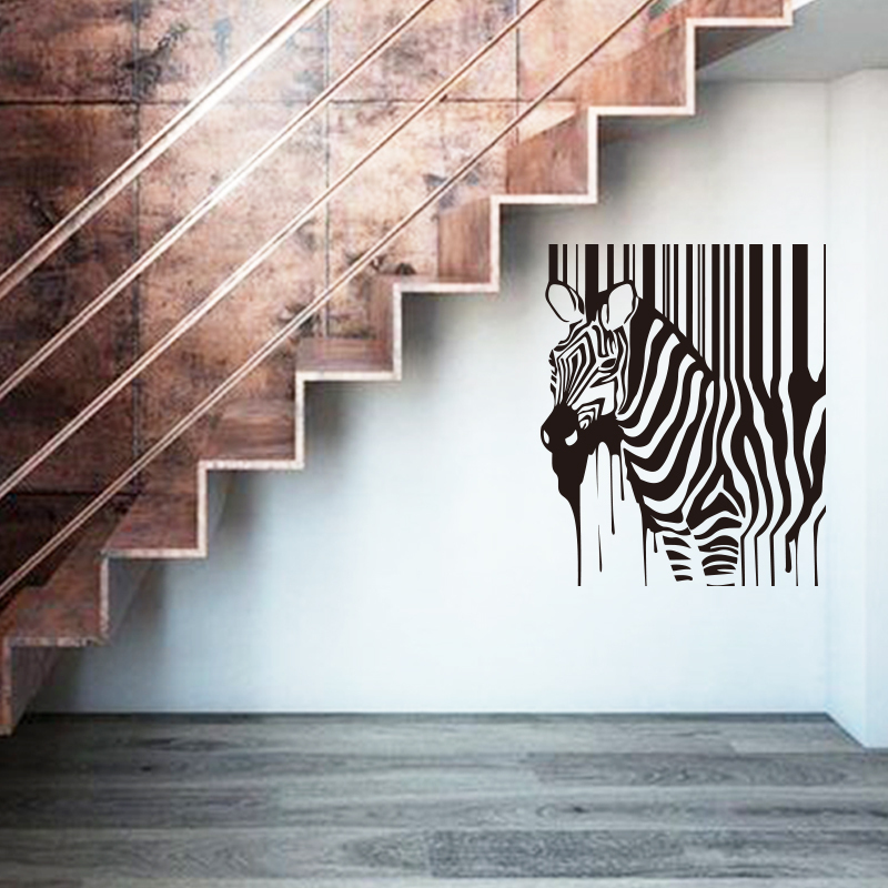 Art Design Hot Selling Home Decoration Painting Zebra Wall Stickers Removable Cheap Africa Animal House Decor