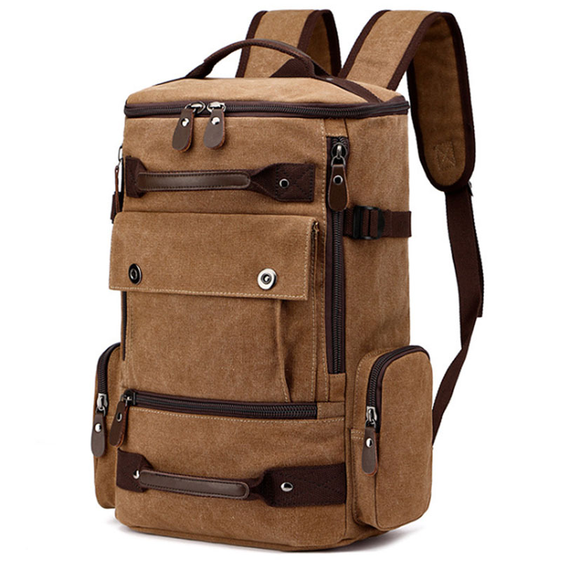 FANSON Large Capacity Rucksack Man Travel Bag Mountaineering Backpack Male Luggage Boys Canvas Bucket Shoulder Bags Men BackpackFANSON Large Capacity Rucksack Man Travel Bag Mountaineering Backpack Male Luggage Boys Canvas Bucket Shoulder Bags Men Backpack